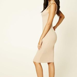 Forever 21 size small bodycon nude dress